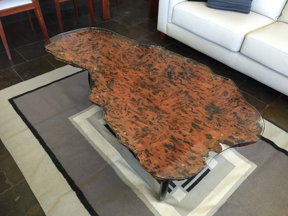 Red Gum Burl Noguchi Coffee table