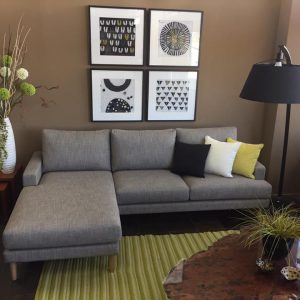 Caulfield with Ottoman Chaise End
