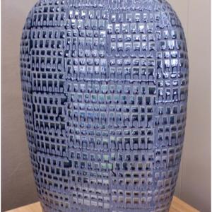 Silver Patterned Vase