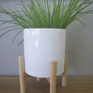 White Planter Pot