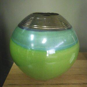 Pearlescent Green Vase