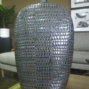 Large Brown Ceramic Vessel