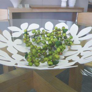 Metal Floral Dish