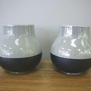 Black and Grey Pots